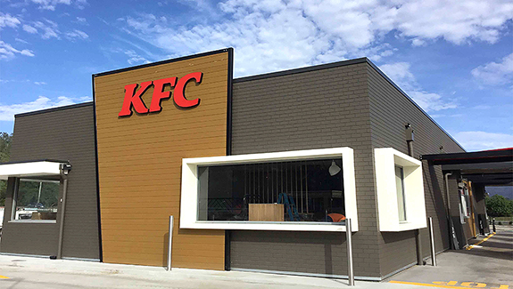 Fast food giant KFC is on the fake – with it's new exterior brick cladding Dura Standard from DuraBricFast food giant KFC is on the fake – with it's new exterior brick cladding Dura Standard from Durabric