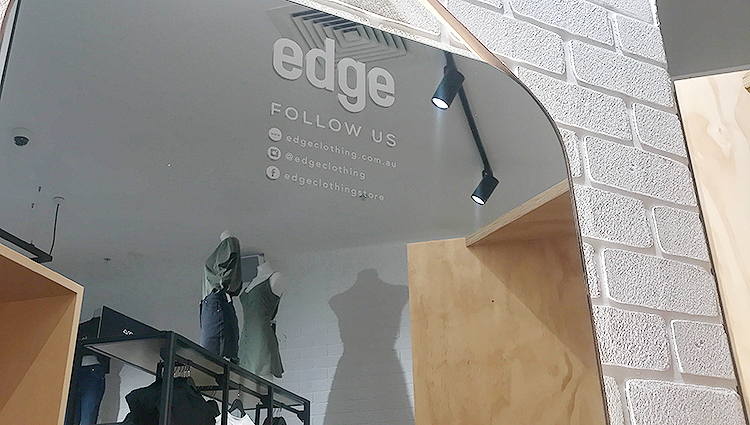 Quick brick retrofit gives them the edge with Dura Tumbled from DuraBric – Edge Clothing, Melbourne